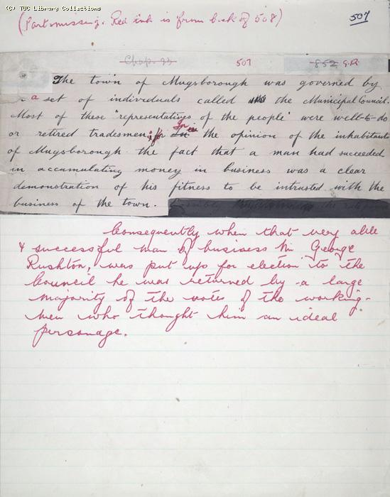 The Ragged Trousered Philanthropists - Manuscript, Page 506 & 507
