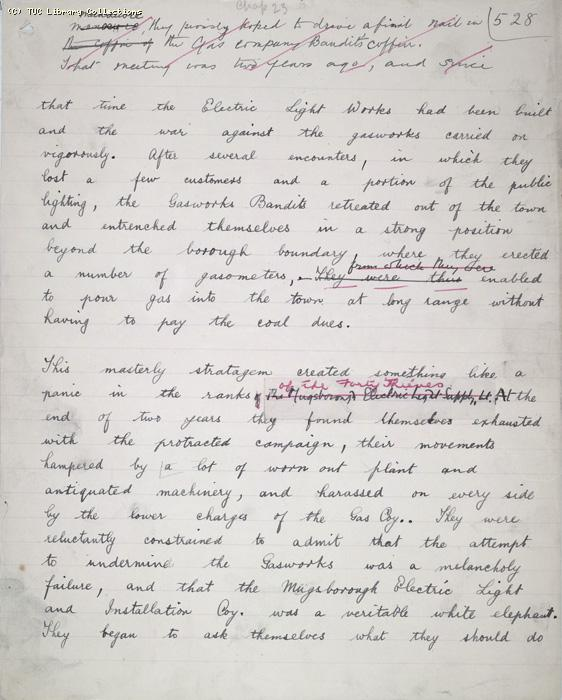The Ragged Trousered Philanthropists - Manuscript, Page 528