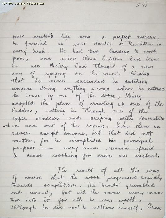 The Ragged Trousered Philanthropists - Manuscript, Page 531