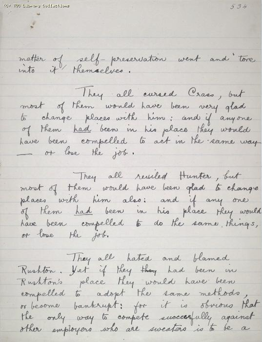 The Ragged Trousered Philanthropists - Manuscript, Page 534