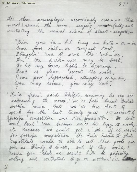 The Ragged Trousered Philanthropists - Manuscript, Page 573