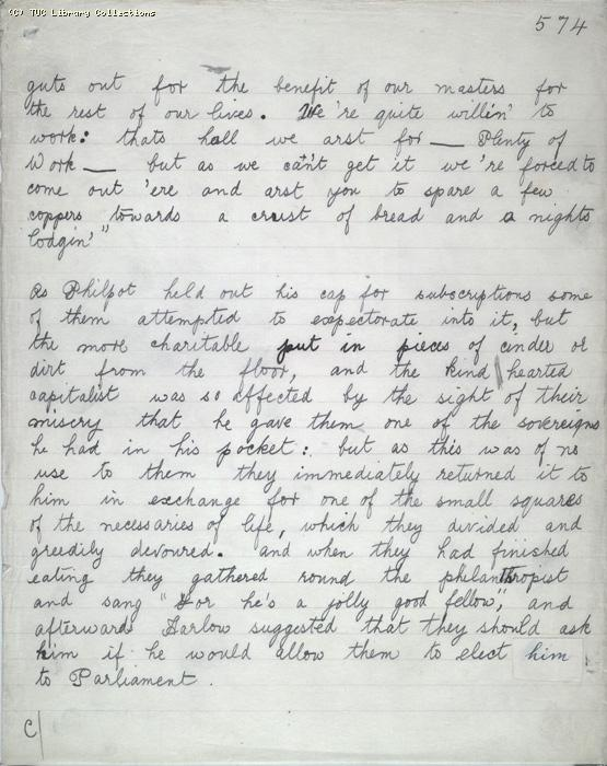 The Ragged Trousered Philanthropists - Manuscript, Page 574