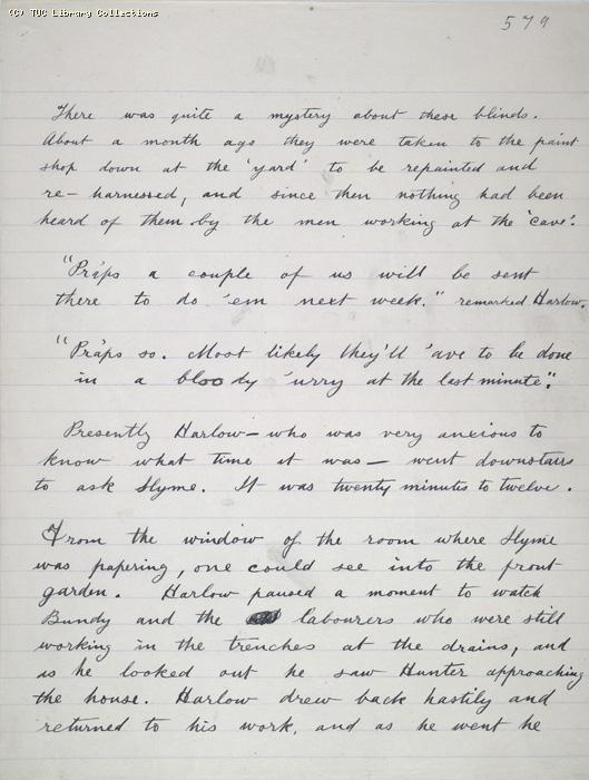 The Ragged Trousered Philanthropists - Manuscript, Page 579
