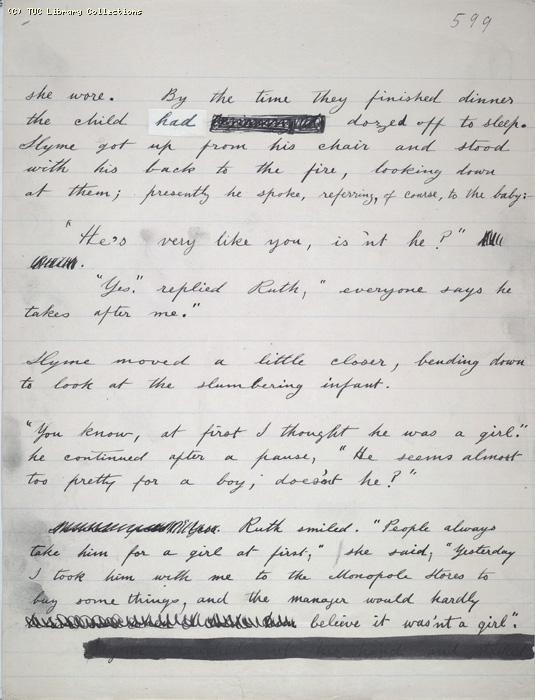 The Ragged Trousered Philanthropists - Manuscript, Page 599