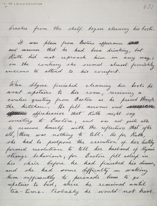 The Ragged Trousered Philanthropists - Manuscript, Page 601