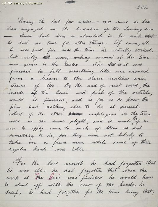The Ragged Trousered Philanthropists - Manuscript, Page 604
