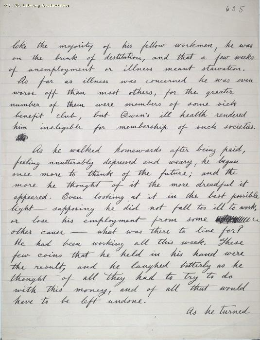 The Ragged Trousered Philanthropists - Manuscript, Page 605