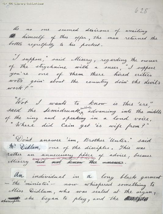 The Ragged Trousered Philanthropists - Manuscript, Page 628