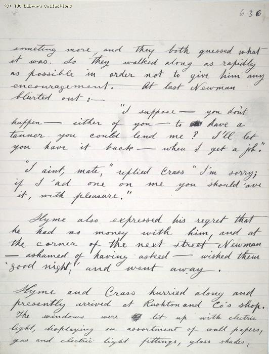 The Ragged Trousered Philanthropists - Manuscript, Page 636