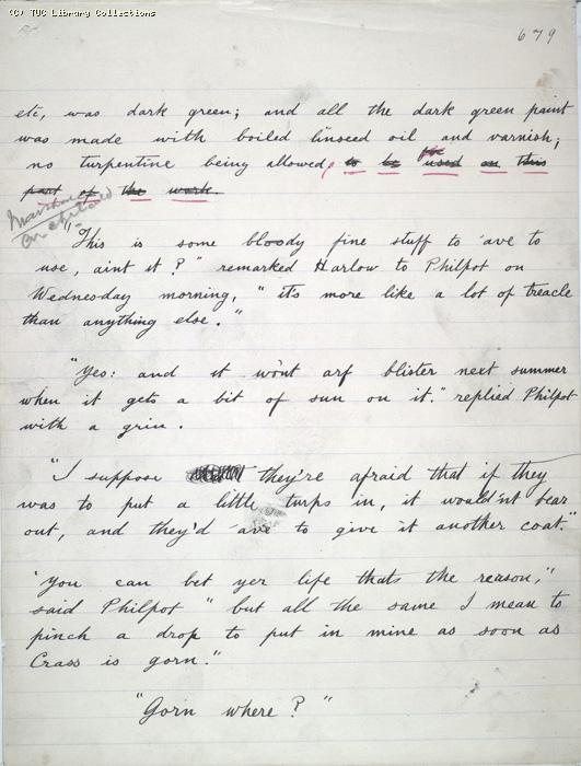 The Ragged Trousered Philanthropists - Manuscript, Page 679