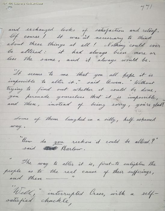 The Ragged Trousered Philanthropists - Manuscript, Page 771