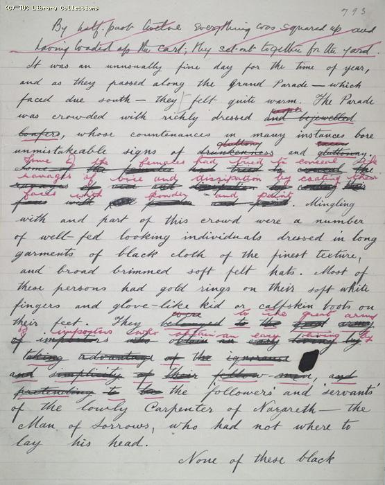 The Ragged Trousered Philanthropists - Manuscript, Page 793