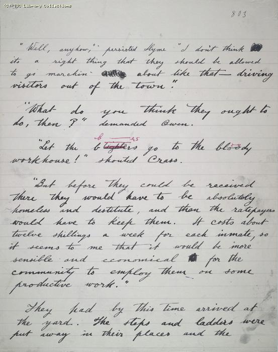 The Ragged Trousered Philanthropists - Manuscript, Page 803
