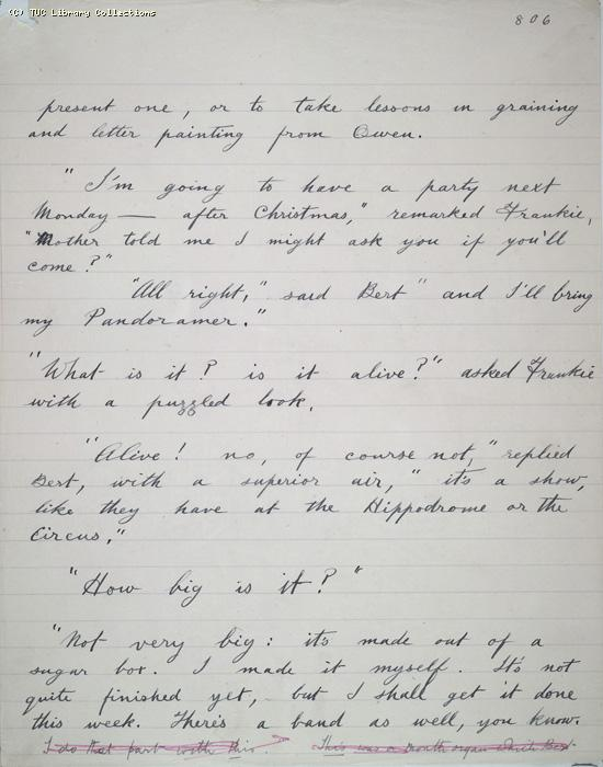 The Ragged Trousered Philanthropists - Manuscript, Page 806
