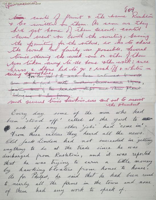 The Ragged Trousered Philanthropists - Manuscript, Page 809