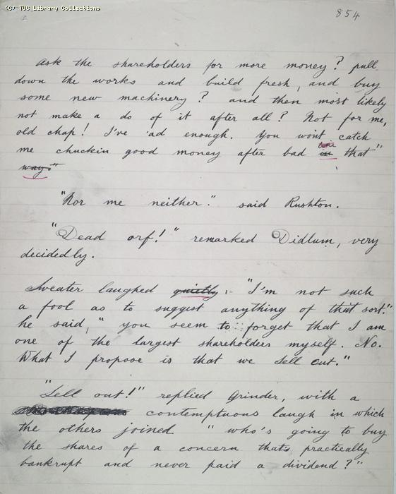 The Ragged Trousered Philanthropists - Manuscript, Page 854