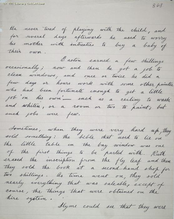 The Ragged Trousered Philanthropists - Manuscript, Page 868