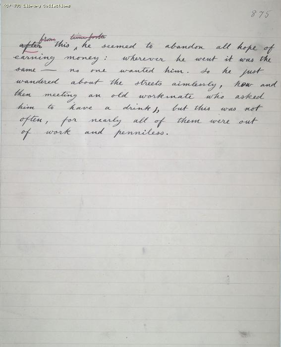 The Ragged Trousered Philanthropists - Manuscript, Page 875