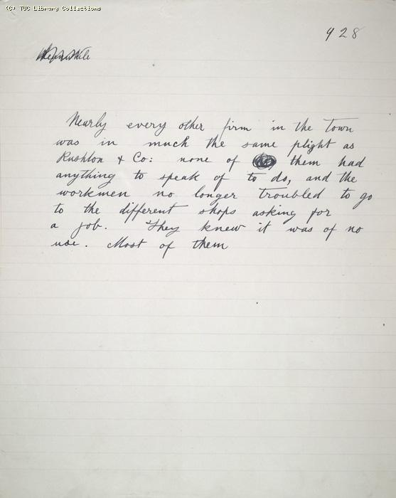 The Ragged Trousered Philanthropists - Manuscript, Page 928