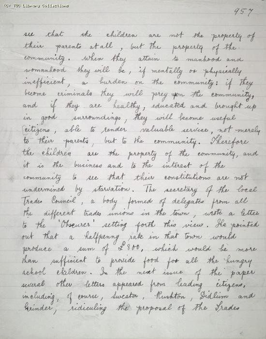 The Ragged Trousered Philanthropists - Manuscript, Page 957