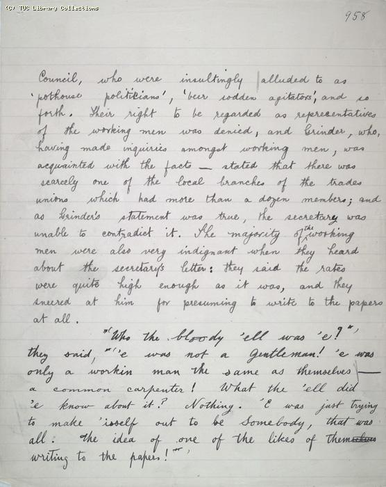 The Ragged Trousered Philanthropists - Manuscript, Page 958