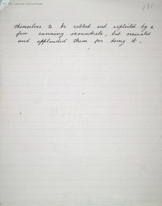 The Ragged Trousered Philanthropists - Manuscript, Page 981