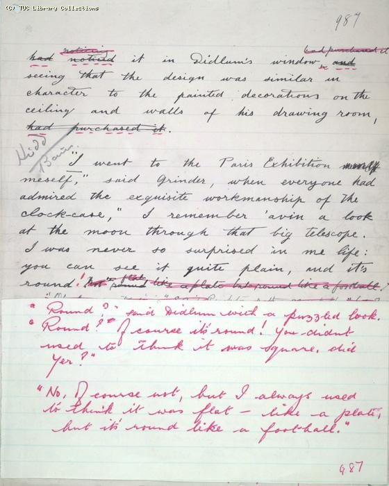 The Ragged Trousered Philanthropists - Manuscript, Page 987a