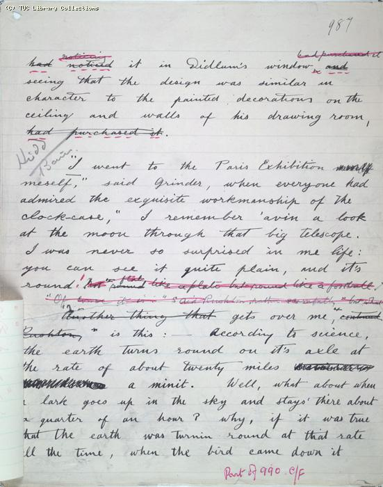 The Ragged Trousered Philanthropists - Manuscript, Page 987b