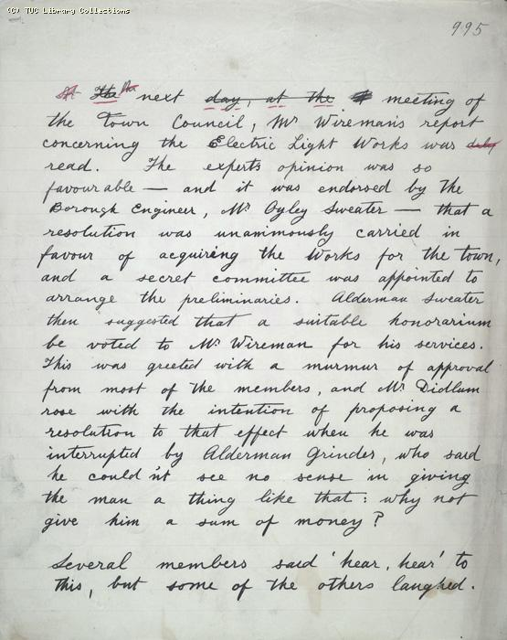 The Ragged Trousered Philanthropists - Manuscript, Page 995