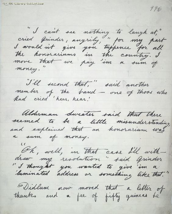 The Ragged Trousered Philanthropists - Manuscript, Page 996