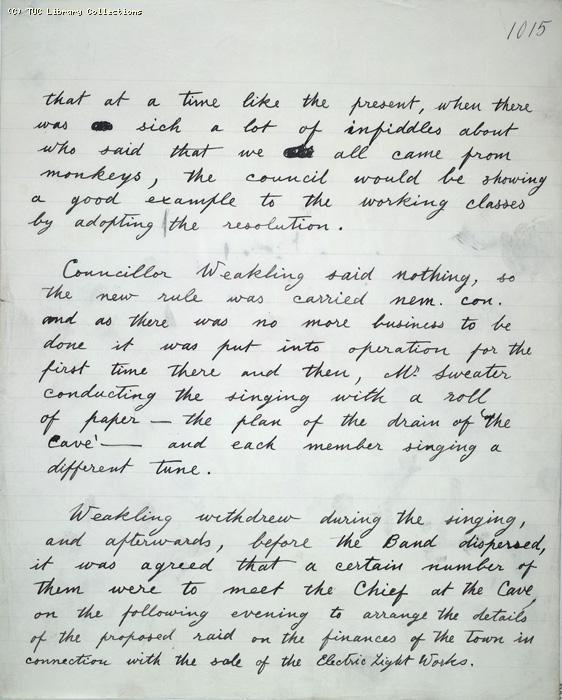 The Ragged Trousered Philanthropists - Manuscript, Page 1015