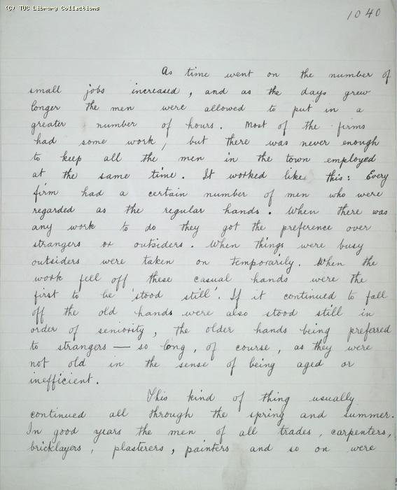 The Ragged Trousered Philanthropists - Manuscript, Page 1040