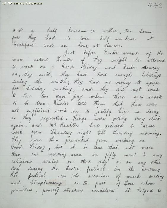 The Ragged Trousered Philanthropists - Manuscript, Page 1042