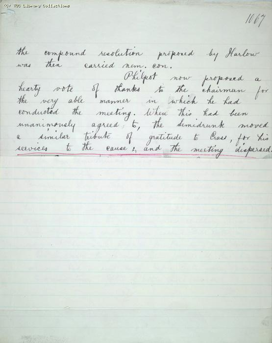 The Ragged Trousered Philanthropists - Manuscript, Page 1067a