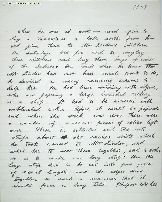 The Ragged Trousered Philanthropists - Manuscript, Page 1069