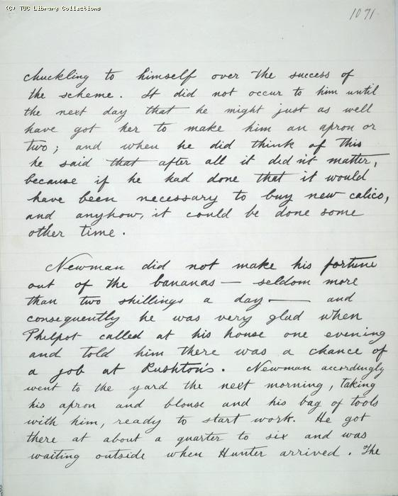 The Ragged Trousered Philanthropists - Manuscript, Page 1071
