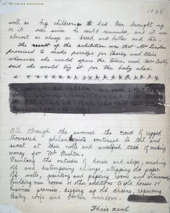 The Ragged Trousered Philanthropists - Manuscript, Page 1085