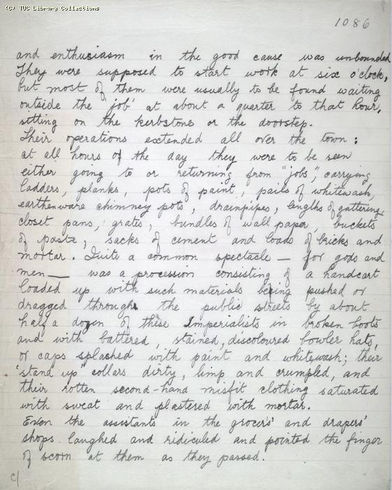 The Ragged Trousered Philanthropists - Manuscript, Page 1086