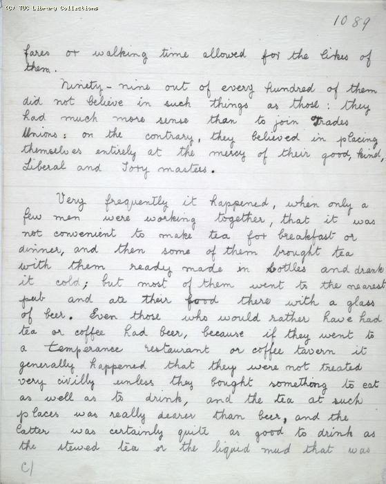 The Ragged Trousered Philanthropists - Manuscript, Page 1089