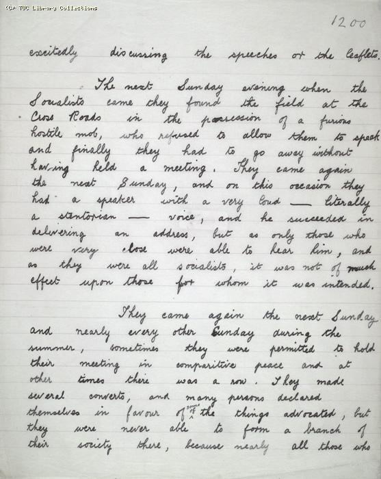 The Ragged Trousered Philanthropists - Manuscript, Page 1200