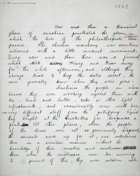 The Ragged Trousered Philanthropists - Manuscript, Page 1202