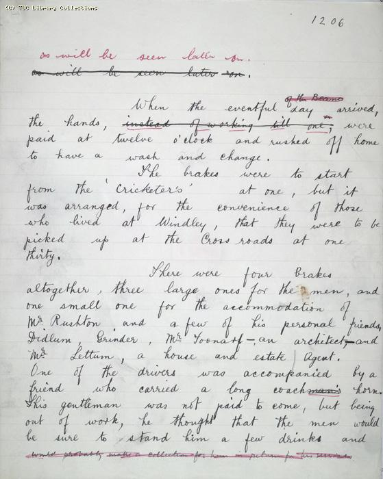 The Ragged Trousered Philanthropists - Manuscript, Page 1206