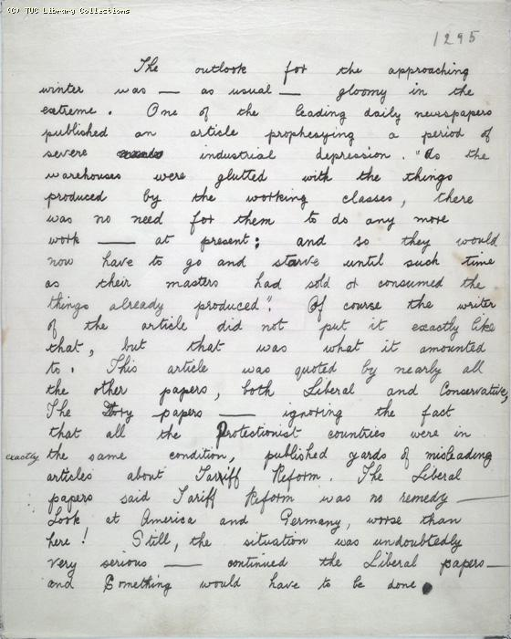 The Ragged Trousered Philanthropists - Manuscript, Page 1295
