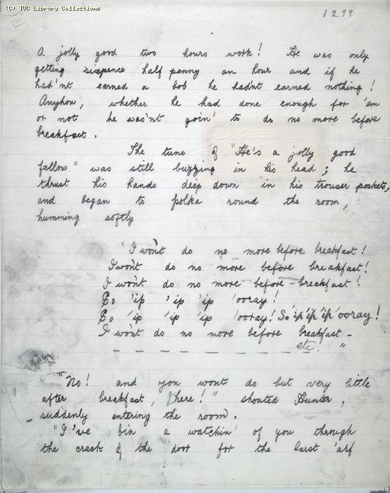 The Ragged Trousered Philanthropists - Manuscript, Page 1299