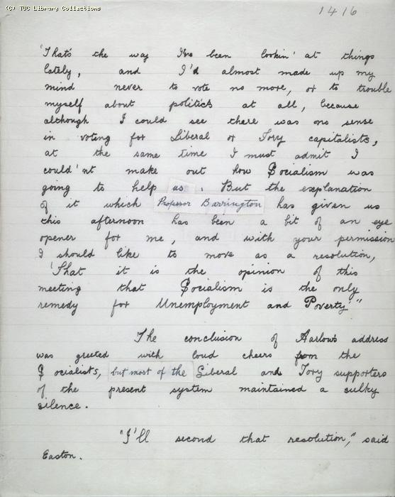 The Ragged Trousered Philanthropists - Manuscript, Page 1416