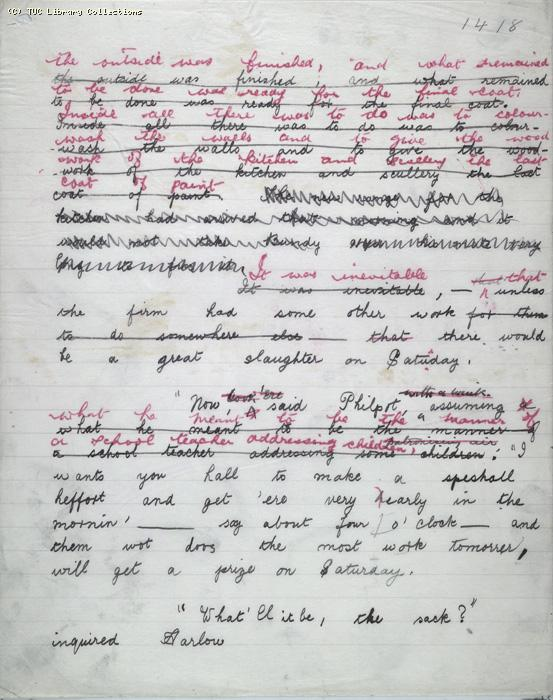 The Ragged Trousered Philanthropists - Manuscript, Page 1418