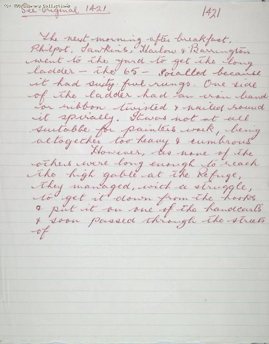 The Ragged Trousered Philanthropists - Manuscript, Page 1421a