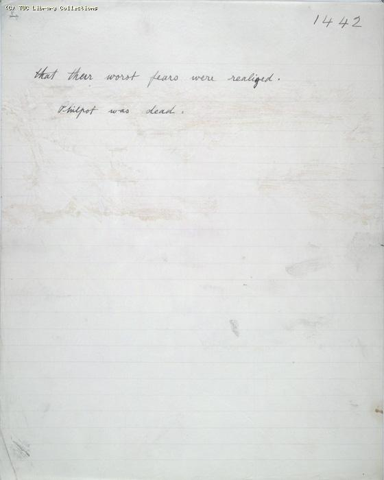 The Ragged Trousered Philanthropists - Manuscript, Page 1442