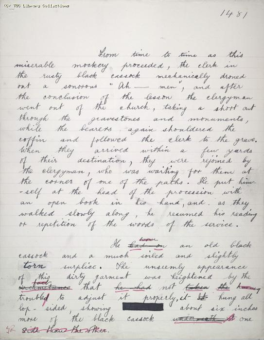 The Ragged Trousered Philanthropists - Manuscript, Page 1481