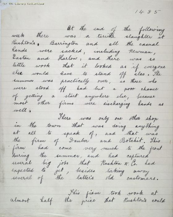 The Ragged Trousered Philanthropists - Manuscript, Page 1485